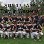 2019 13U AAA - 3rd in Westerns